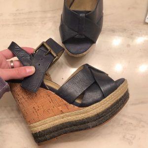 Shoes - Levity Carlita leather cork wedge sandal